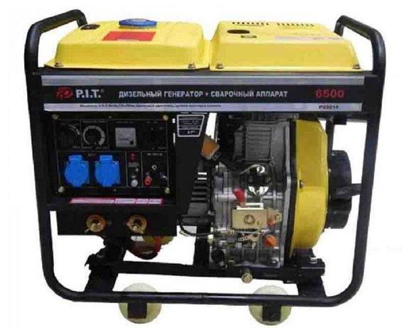 55014 — «»P.I.T.»» Дизельный генератор 5.0 kW + САГ 190A