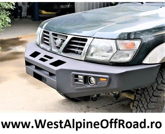 Bara fata metalica / aluminiu Nissan Patrol Y61 1998-2004 - OFF ROAD