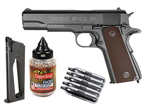 Pistol co2 foarte puternic modificat PENTRU TINTA!! colt airsoft co2
