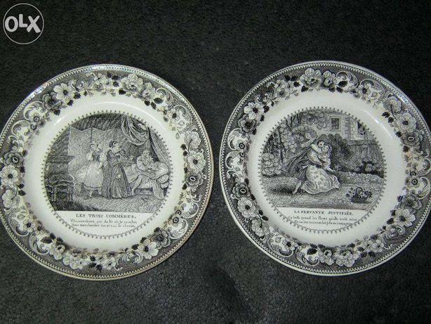 2 buc farfurii 1840,set,LEBEUF/MONTEREAU,1840