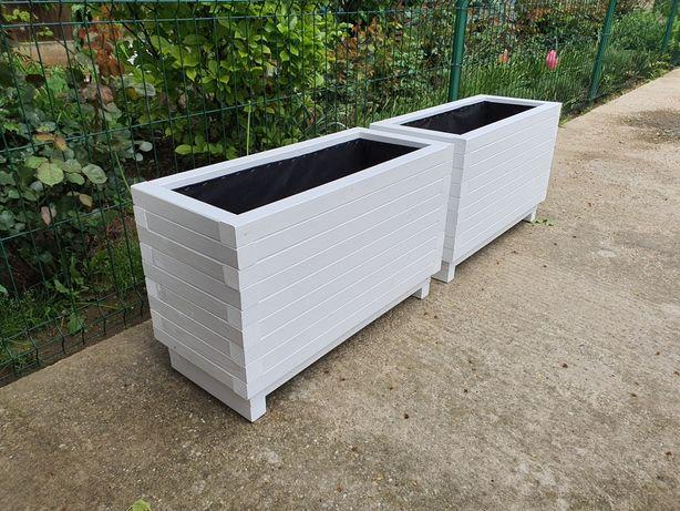 Jardiniere personalizate, din lemn masiv, H60
