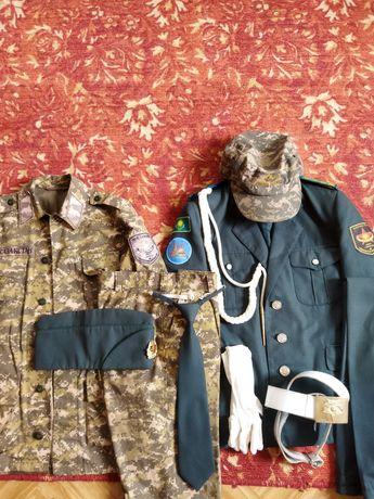 Для военной школы камуфляж и парадный костюм