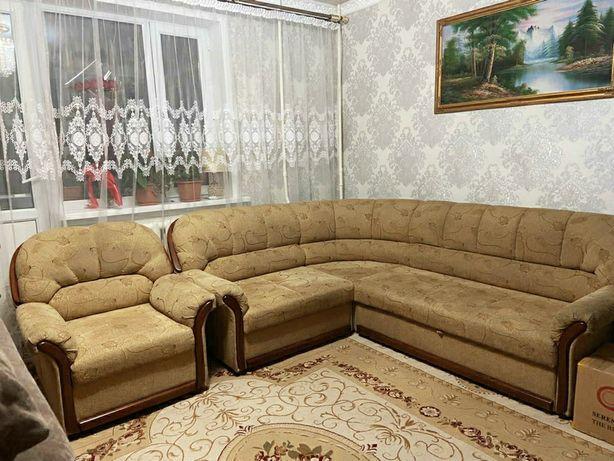 Мягкий уголок (угловой диван+кресло)