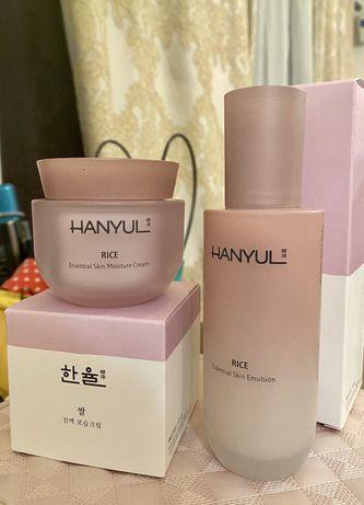 Корейская косметика Люкс Hanyul Rice набор крем и эмульсия
