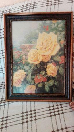 Гоблен Прекрасни жълти рози на Леврон