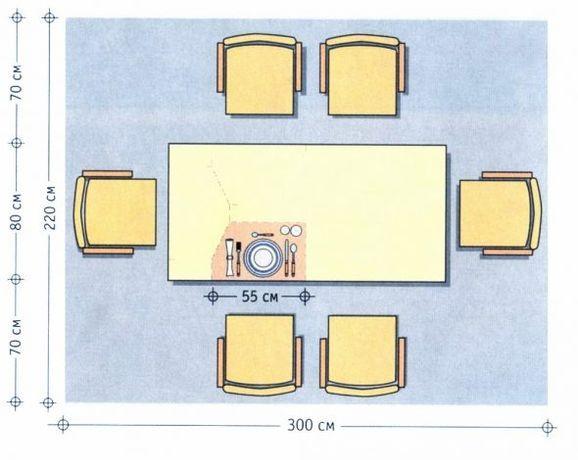 Гостиный квадратный стол