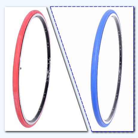 Червени и сини външни гуми за шосеен велосипед 700x23C
