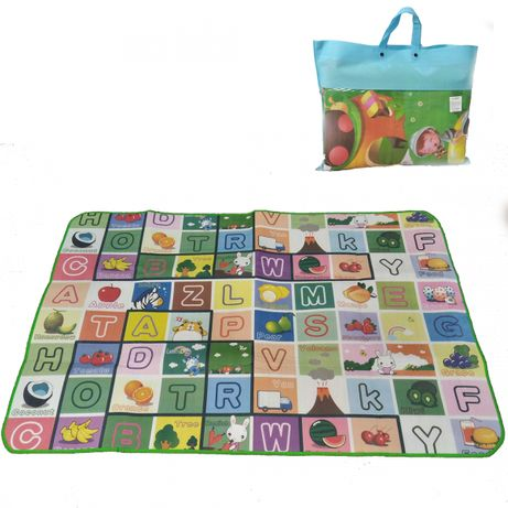 Страхотно двулицево детско килимче в два размера с ПОДАРЪК чанта