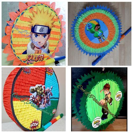PiñataBrawl,BabyDragon,Cars,NintendoMario,Ben10,Naruto,Ponei,Mașină,