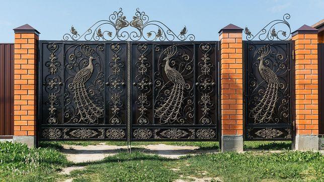 Ворота, решетки, навесы, перилы,качели,