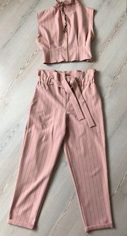 Розов комплект сет панталон и бюстие