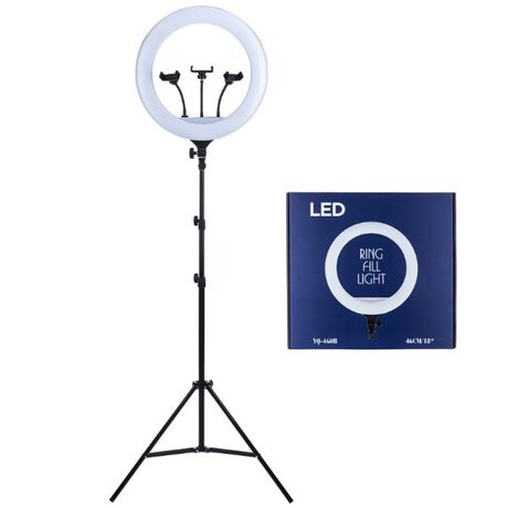 Ring Light 46cm, Lampa circulara LED cu trepied si suport-vlog, makeup