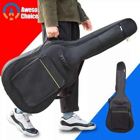Новый черный рюкзак чехол для акустической гитары на молнии распродажа