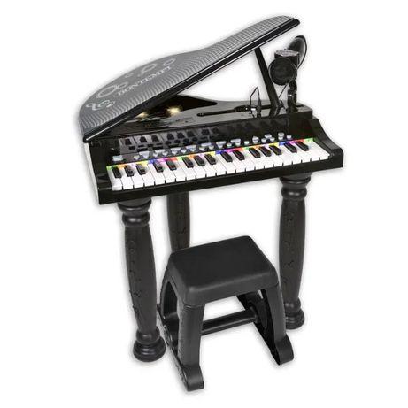 Mini pian pentru copii ,8 sunete,4 ritmuri,microfon si scaun