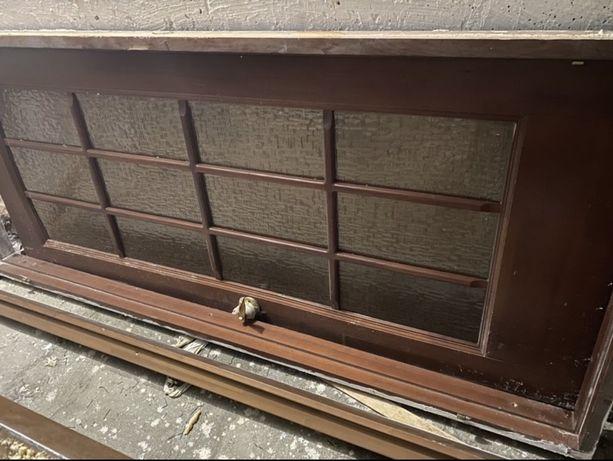 Деревянная Дверь межкомн со стеклом и с косяком