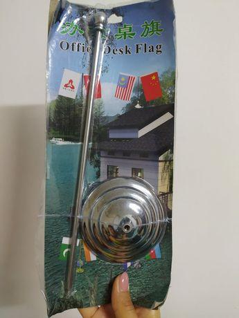 Продам флагшток однорожковый настольный металлический за 1500тг