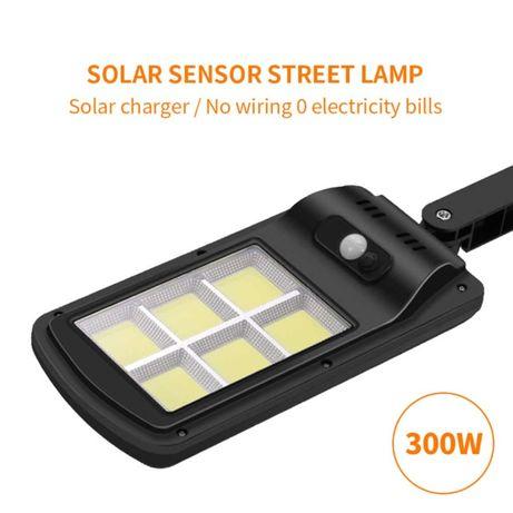 Соларна улична лампа с подарък стойка, фотоклетка и три режима на рабо