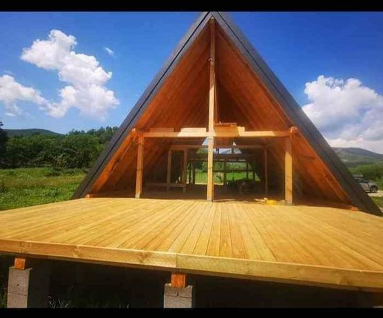 Vând casă cabană magazin din lemn orce dimensiuni