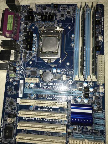 Сокет 1156,мат.плата gigabyte ga-p55-ud3l,8гб озу,xeon x3440