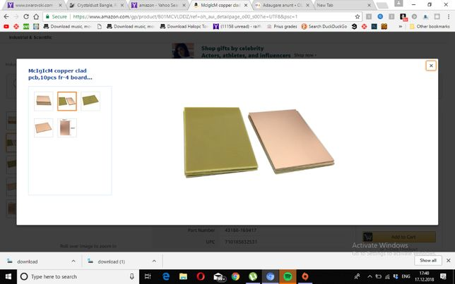 10 PCB sticlotextolit simplu placat 5*7 cm
