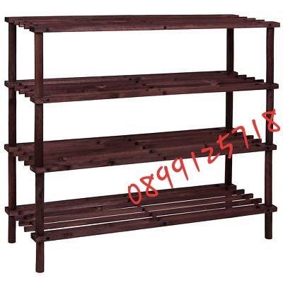 Дървена етажерка за обувки-65.5x26x66 см.