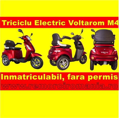 Triciclu Electric Scuter Inmatriculabil, Fara Permis, In Rate-Voltarom