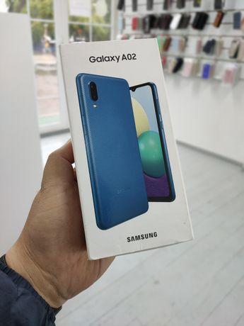 Samsung A02 чёрный и синий НОВЫЙ