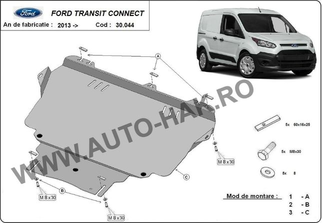 Scut motor metalic Ford Transit Connect 2013-prezent
