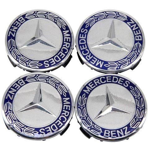 Set 4 Capace Mercedes albastre doar pt jante originale Mercedes-Benz