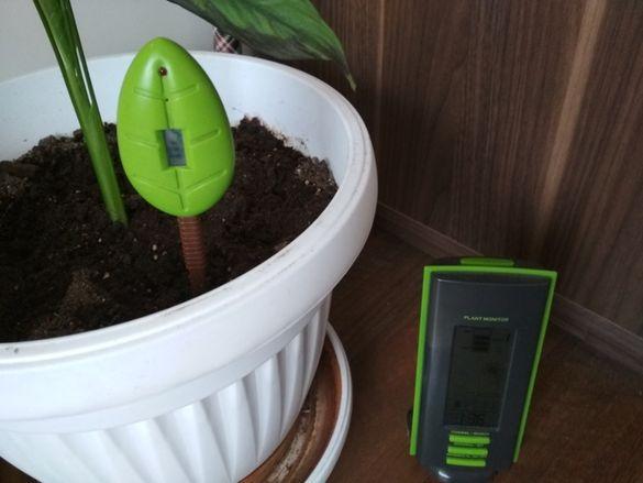 Уред за измерване влажността в саксии за цветя