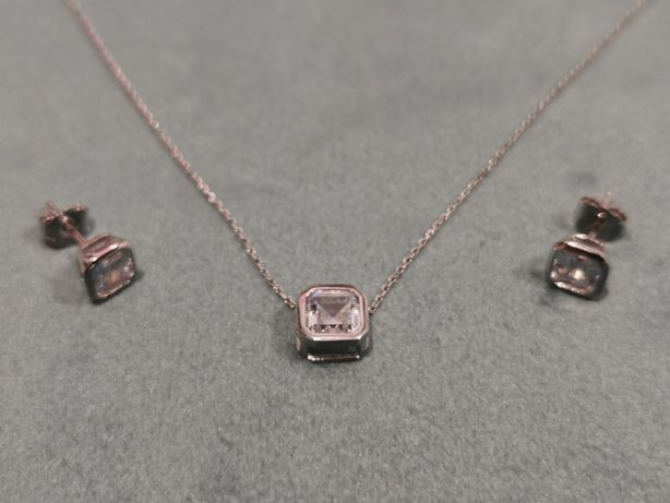 Set argint 925 cu piatra zirconiu - pandantiv, cercei, lant