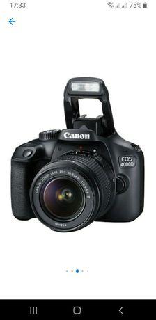DSLR Canon EOS 4000D,18 MP+obiectiv,negru