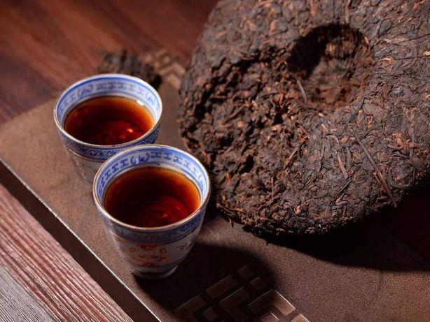 Старинный чай пуэр 2008г. Тигуанинь Дахун доставка KZ наличие Астана