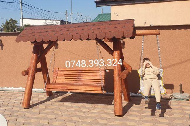 Balansoar  lemn  leagan  rustic  3 4 pers