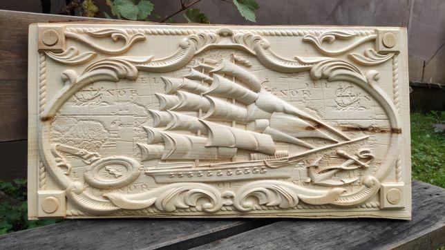 Sculptura in lemn | Paltin | Vapor marinar