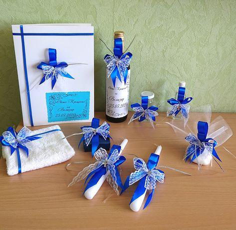 Покани ,подаръчета и комплекти за Кръщене в цвят по избор на клиента