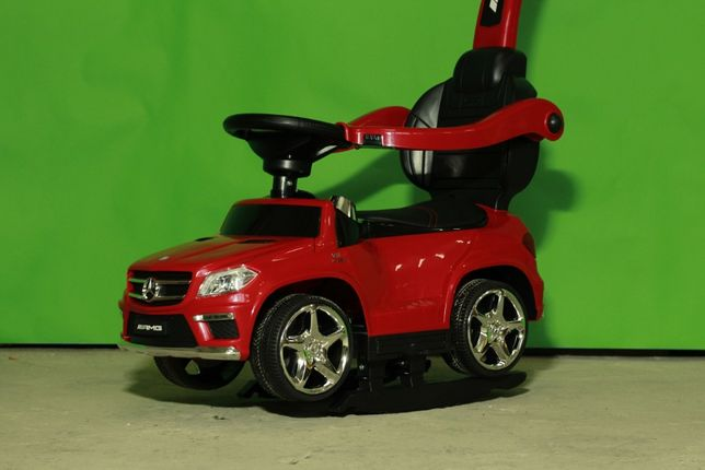 Masinuta cu maner pentru copii Mercedes GL63 AMG 6V 3 în 1 #RED