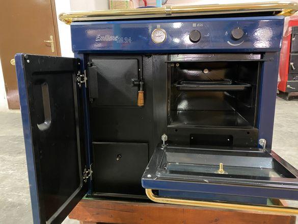 Комбинирана печка за готвене и отопление на твърдо гориво!