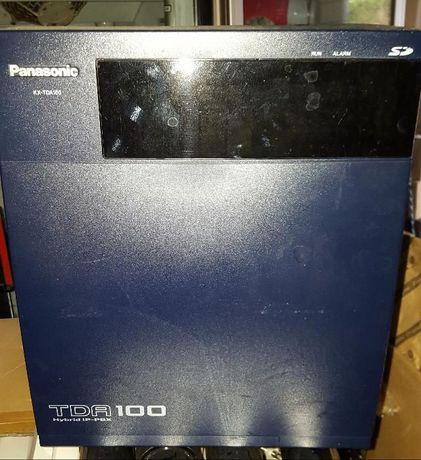 Цифрова Телефонна централа Panasonic TDA-100BX hibrid,пълен комплект.
