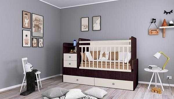 Детская кроватка трансформер Фея 1414 5 в 1 . ХИТ ПРОДАЖ