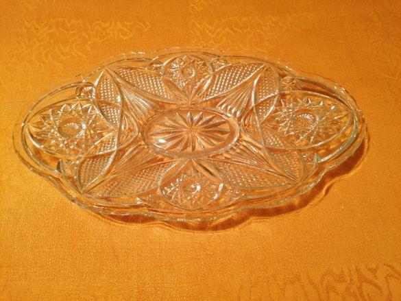 Кристална овална чиния