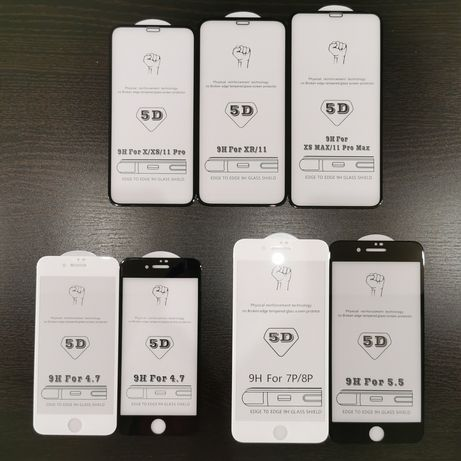 Folie Sticla 3D/5D Full Screen iPhone 6/7/8/Plus SERIA 10/X/11/Pro/Max