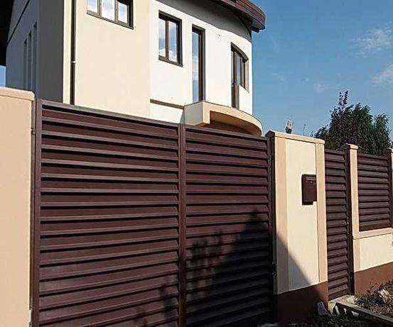 Garduri si porti tip jaluzea, fier forjat, sipca, tabla, BCA, plasa