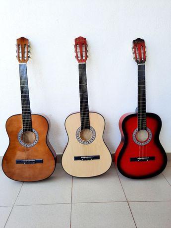 Chitara din lemn pentru incepatori 98 cm,husa transport chitara NOU