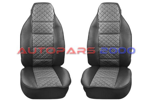 Калъфи за предни седалки тип Масажор S STYLE / Черно със сиво