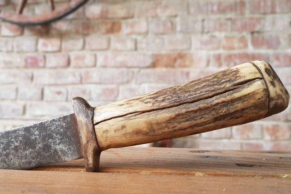Стар Нож - Дръжка от Рог - Острие с Канал - Каракулак, Буйновски Нож