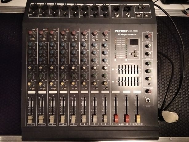 Активный микшерный пульт Pudon pmx 1808a микшер акустическая система с