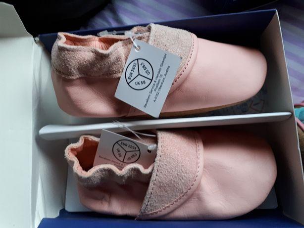 Papuci copii piele naturală Noi
