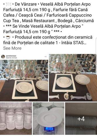 """Veselă Horeca Porțelan Arpo """" Farfurie 14,5cm """" Cană Cafea Ceașcă Ceai"""