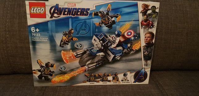 LEGO Nou Marvel Avengers Captain America Atacul Outriderilor 76123